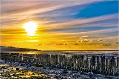 Sunset at the Waddenzee, Groningen NL