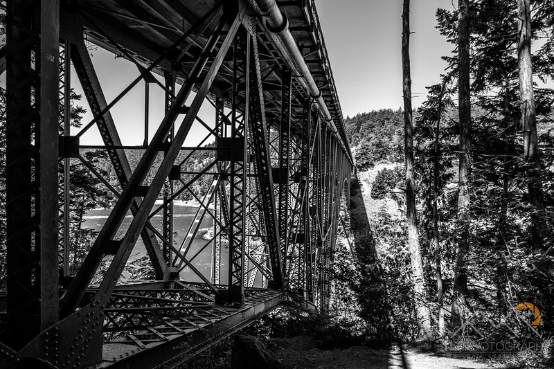 Underneath the Deception Pass bridge.