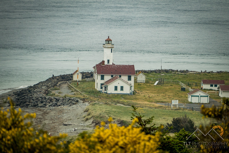 Lighthouse off Port Townsend in Fort Worden.