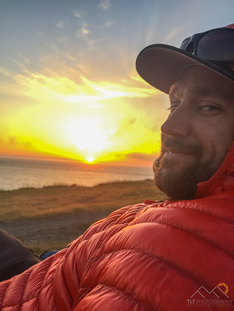 Watching the sunset from Fort Ebey State Park on Whidbey Island.