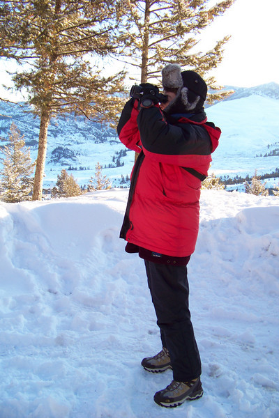 After the sun was respectably up, we went in search of a latrine, but Patti found a Clark's Nutcracker instead.