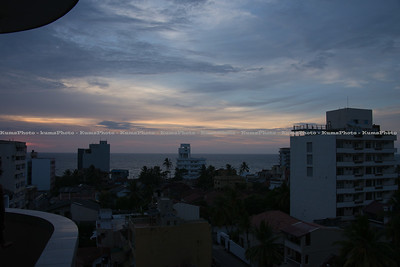 Sun set from Visva's place.