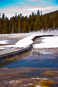 Winter Yellowstone Boardwalk