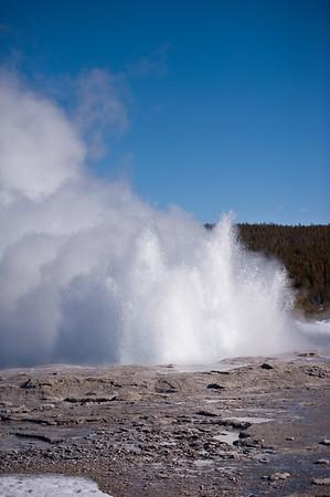 Fountain Geyser Erupting