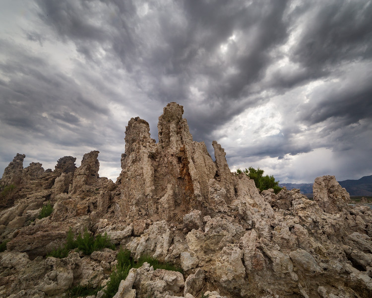 Tufas and Stormy Clouds, Mono Lake