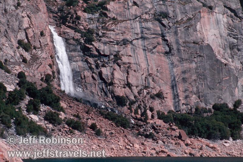 Wapama Falls, viewed from the dam (Wapama Falls hike, Hetch Hetchy, Yosemite NP, 3/30/2003 or 4/5/2003)
