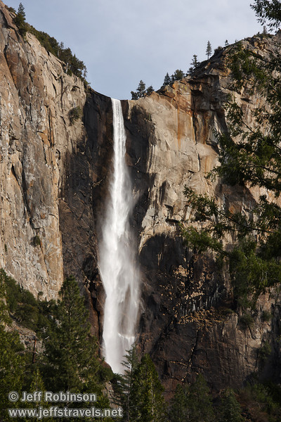 Bridalveil Fall, seen from Bridalveil View turnout on Northside Drive. (3/28/10, Yosemite NP)