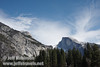Cloud patterns over North Dome (left) and Half Dome (right). Seen from Cooks Meadow. (3/29/2010, Yosemite NP)