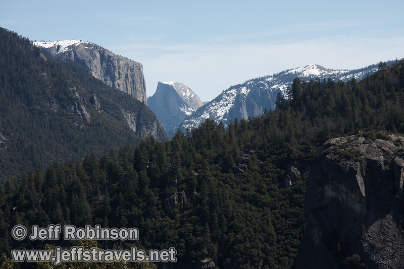 El Capitan and Half Dome, seen from Half Dome View (3/28/10, Yosemite NP)