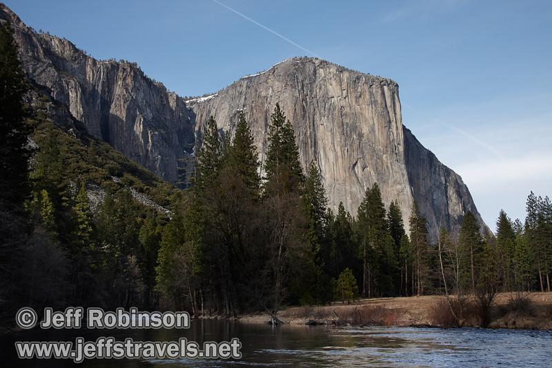 El Capitan over the Merced River. Seen from the Valley View turnout on Northside Drive. (3/28/10, Yosemite NP)