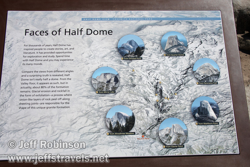 Faces of Half Dome sign, seen at Half Dome View (3/28/10, Yosemite NP)