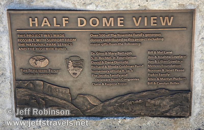 Half Dome View sign (3/28/10, Yosemite NP)