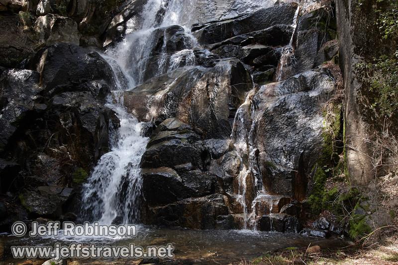 Cascades/mini-falls on Wildcat Creek below Wildcat Fall. Seen on Wildcat Creek just north of highway 140. (3/28/10, Yosemite NP)
