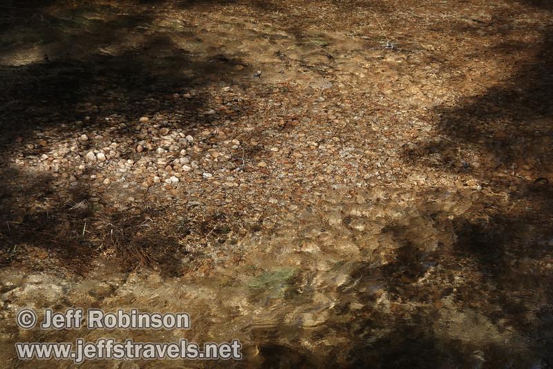 River stones and a little algae in Tenaya Creek just upstream from the Tenaya Bridge on the trail to Mirror Lake. (3/29/2010, Yosemite NP)