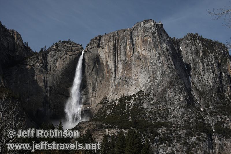 Upper Yosemite Fall. Seen from trail near turnout on Southside Drive. (3/28/10, Yosemite NP)