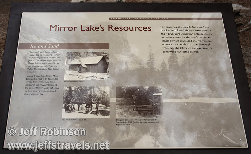 Mirror Lake's Resources sign. (3/29/2010, Yosemite NP)
