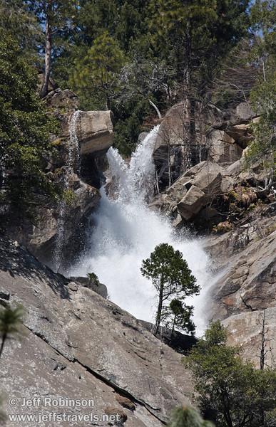 The top of The Cascades, where Cascade Creek and Tamarack Creek join. Seen from near the Tamarack/Cascade Creek bridge on highway 140. (3/28/10, Yosemite NP)