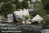 The dark waters of the Merced River flowing by white granite boulders. Seen at a turnout (the 2nd we stopped at) by the Merced River on El Portal Road (highway 140) (5/15/2010, Yosemite NP)<br /> EF-S17-85mm f/4-5.6 IS USM @ 26mm f11 1/250s ISO160