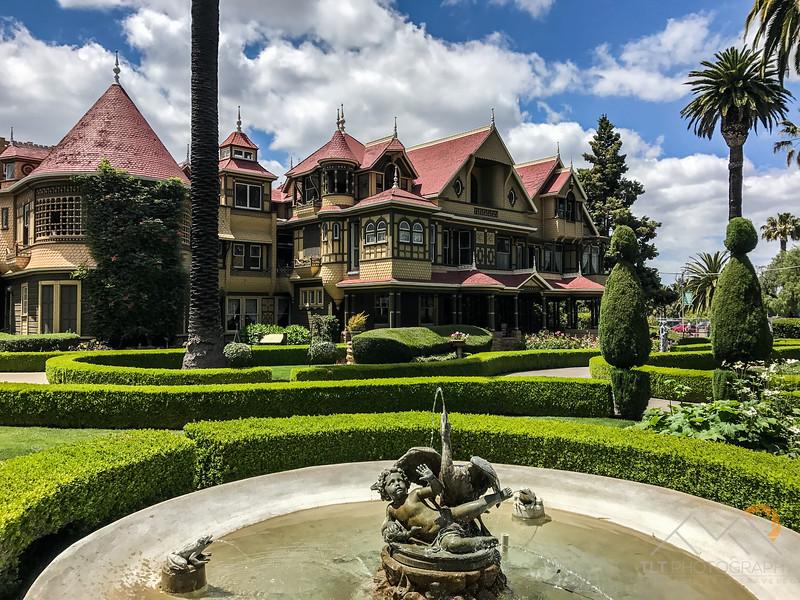 The crazy Sarah Winchester House in San Jose California.