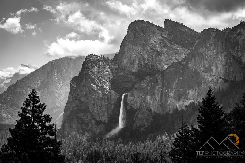 Bridalveil Falls in Yosemite.