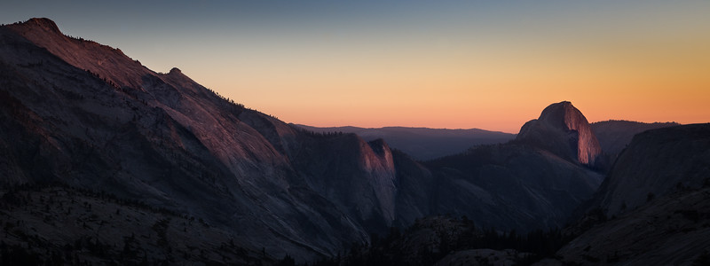 Evening View from Olmstead Point, Yosemite