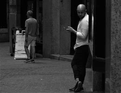 Man on a Street in Boston