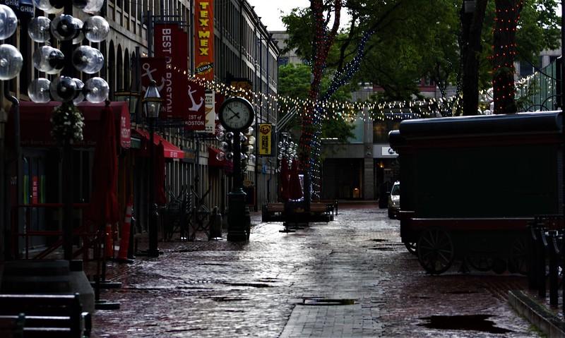 A Rainy Day in Boston