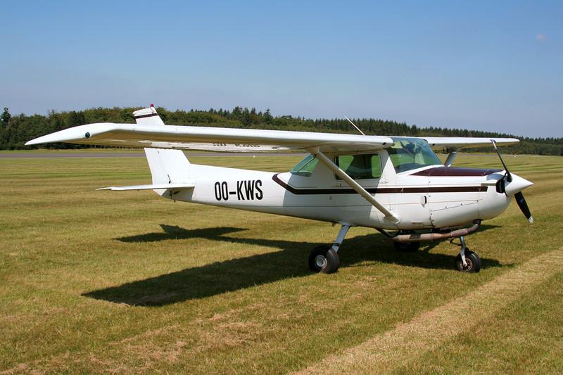 OO-KWS Cessna 152 c/n 152-85985 Spa-La Sauveniere/EBSP 04-08-07