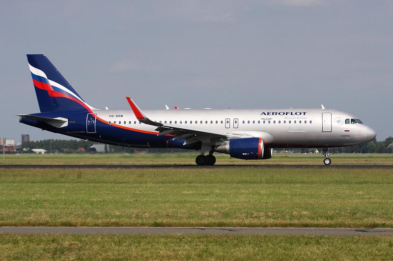 VQ-BRW Airbus A320-214 c/n 5974 Amsterdam/EHAM/AMS 21-06-14