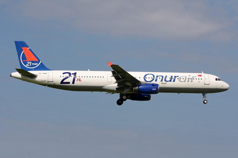 "TC-OBK Airbus A321-231 c/n 0792 Amsterdam/EHAM/AMS 21-06-14 ""21 Years"""