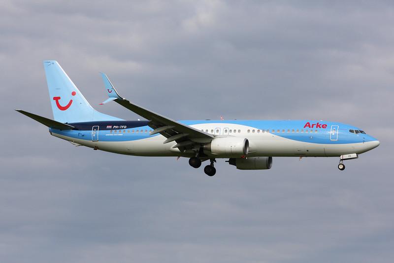 """PH-TFD Boeing 737-86N """"ArkeFly"""" c/n 338014 Amsterdam/EHAM/AMS 21-06-14"""