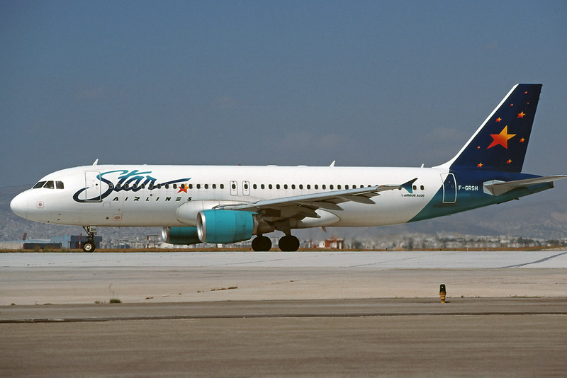 "F-GRSH Airbus A320-214 ""Star Airlines"" c/n 0749 Athens-Hellenikon/LGAT/ATH 23-09-00 (35mm slide)"