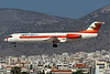 "I-ALPS Fokker 100 ""Alpieagles"" c/n 11254 Athens-Hellenikon/LGAT/ATH 22-09-00 (35mm slide)"