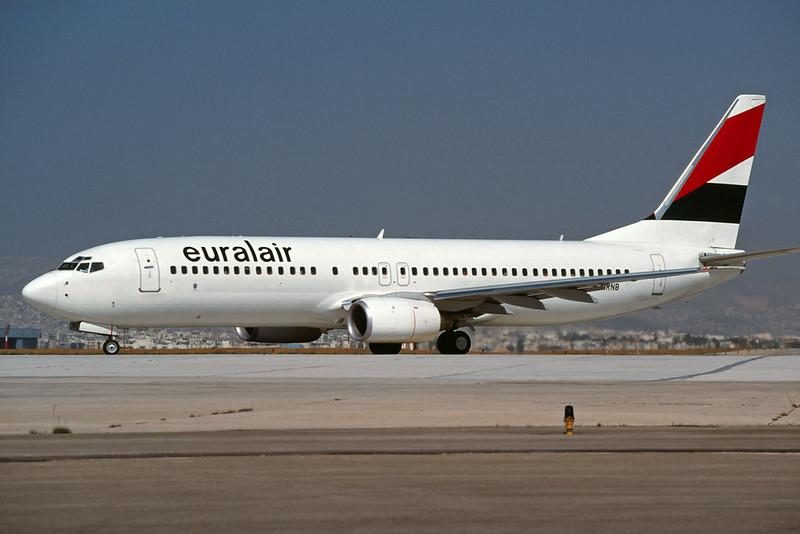 "F-GRNB Boeing 737-85F ""Euralair"" c/n 28824 Athens-Hellenikon/LGAT/ATH 23-09-00 (35mm slide)"