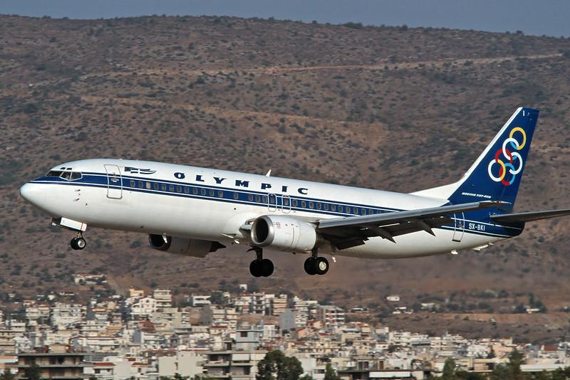 SX-BKI Boeing 737-4Q8 c/n 24704 Athens-Hellenikon/LGAT/ATH 20-09-00 (35mm slide)