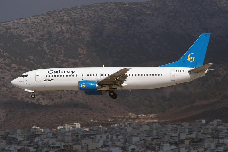 "SX-BFA Boeing 737-4Q8 ""Galaxy Airways"" c/n 26300 Athens-Hellenikon/LGAT/ATH 23-09-00 (35mm slide)"
