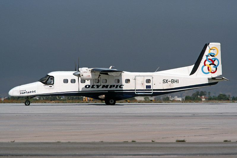"SX-BHI Dornier Do.228-201 ""Olympic Aviation"" c/n 8080 Athens-Hellenikon/LGAT/ATH 20-09-00 (35mm slide)"