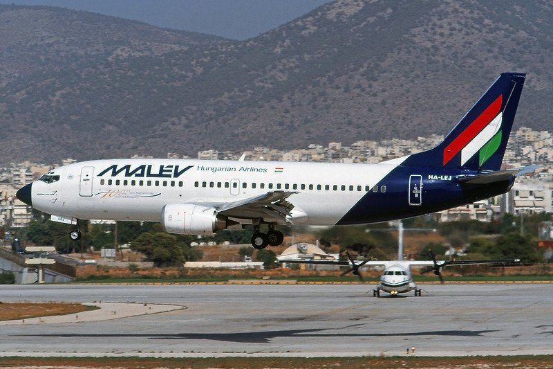 HA-LEJ Boeing 737-3Q8 c/n 26303 Athens-Hellenikon/LGAT/ATH 21-09-00 (35mm slide)