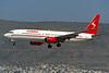 """G-OJSW Boeing 737-8Q8 """"Sabre Airways"""" c/n 28218 Athens-Hellenikon/LGAT/ATH 21-09-00 (35mm slide)"""