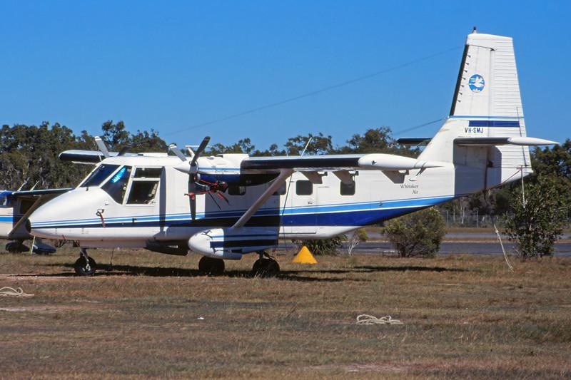 "VH-SMJ GAF Nomad N22B ""Whitaker Air Charter"" c/n 93 Hervey Bay/YHBA/HVB 25-04-99 (35mm slide)"