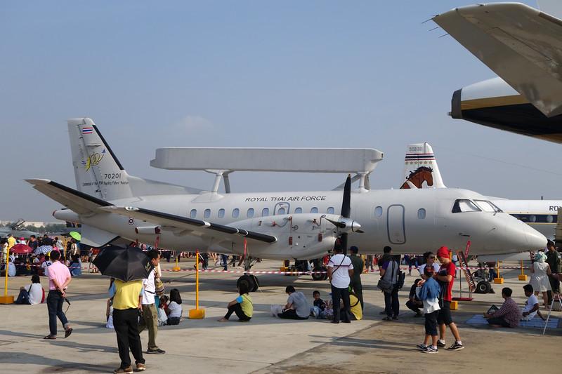 "B.K1-1/53 (70201) SAAB 340 S100B AEW ""Royal Thai Air Force""  c/n 455 Bangkok-Don Mueang/VTBD/DMK 09-01-16"