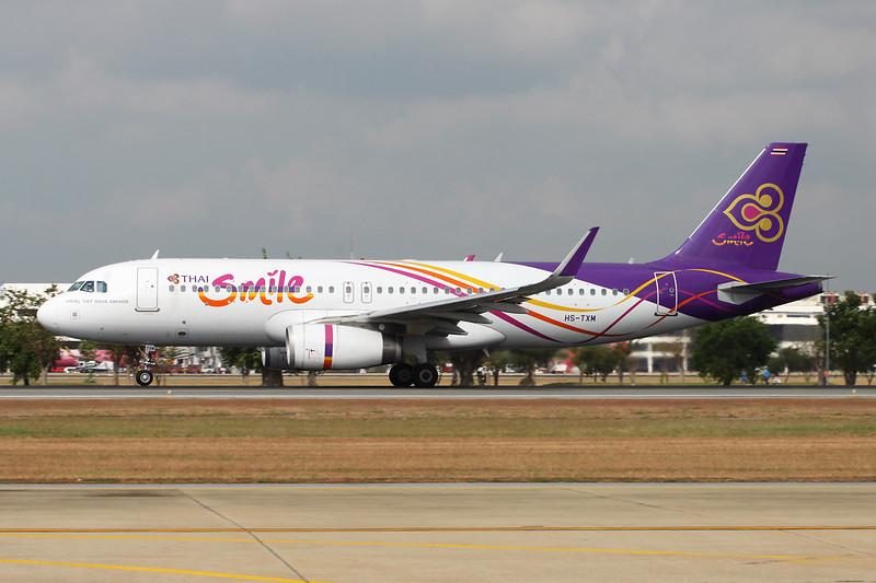 "HS-TXM Airbus A320-232 ""Thai Smile"" c/n 5979 Bangkok-Don Mueang/VTBD/DMK 09-01-16"