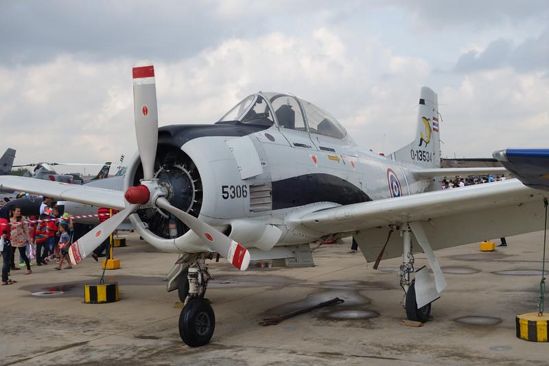"B.JF13-96/13 (5306/0-13534) North American T-28D Trojan ""Royal Thai Air Force"" c/n 174-72 Bangkok-Don Mueang/VTBD/DMK 09-01-16 ""Tango Squadron"""