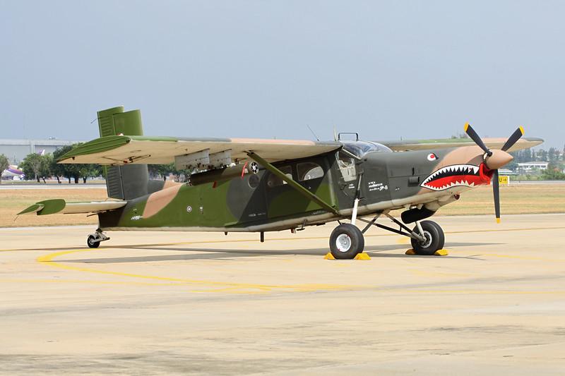 """B.JTh2-22/19 (42081) Fairchild-Hiller AU-23A Peacemaker """"Royal Thai Air Force"""" c/n 2081 Bangkok-Don Mueang/VTBD/DMK 09-01-16"""