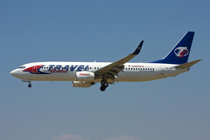 "OK-TVI Boeing 737-86Q ""Travel Service"" c/n 30294 Barcelona-El Prat/LEBL/BCN 29-06-08"
