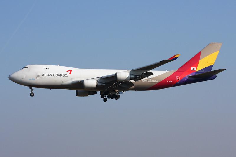 HL7419 Boeing 747-48EF c/n 25781 Brussels/EBBR/BRU 17-03-16