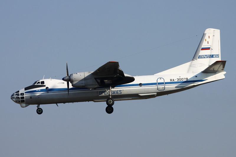 """RA-30078 Antonov An-30 """"Russian Air Force"""" c/n 0507 Brussels/EBBR/BRU 17-03-16 """"Open Skies"""""""