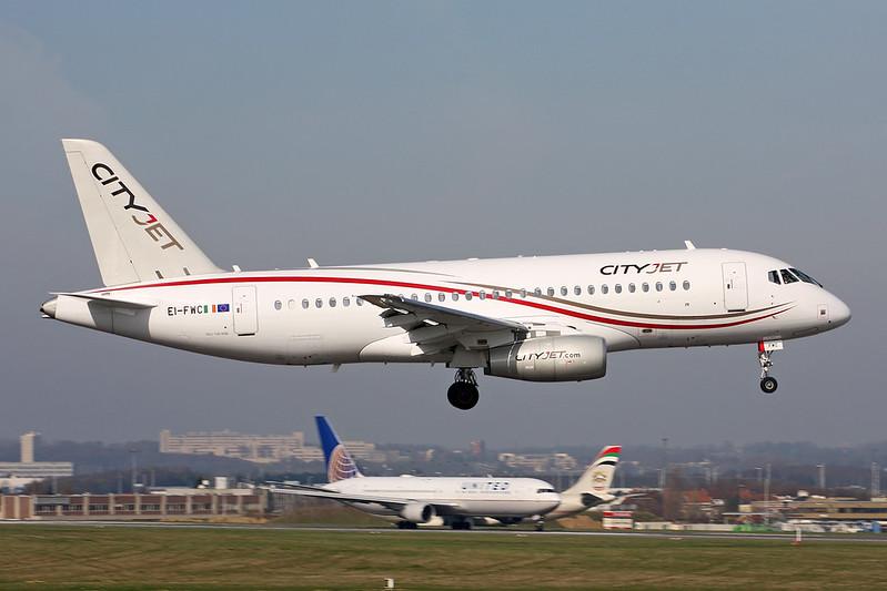"EI-FWC Sukhoi SSJ-100-95B Superjet ""Cityjet"" c/n 95111 Brussels/EBBR/BRU 26-03-17"