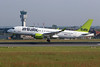 YL-CSG Bombardier CS-300 c/n 55009 Brussels/EBBR/BRU 22-05-18
