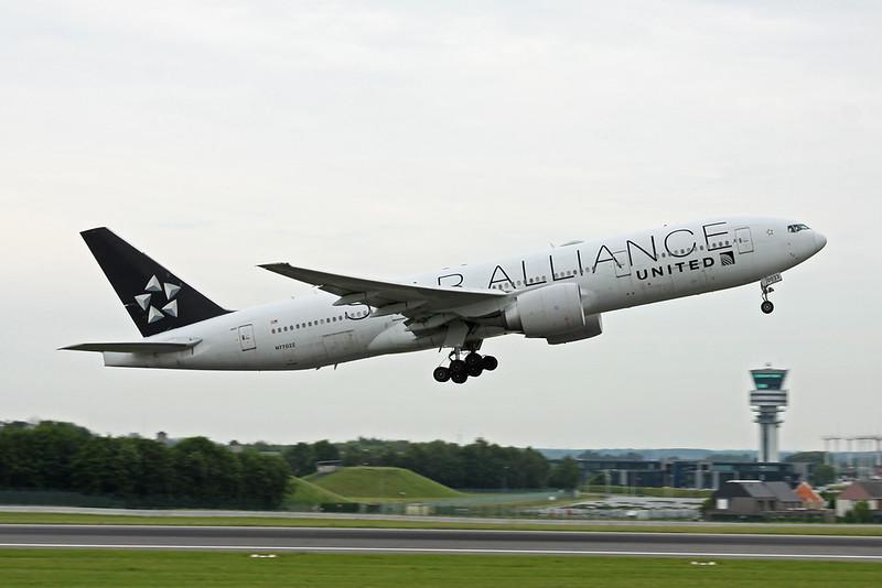 """N77022 Boeing 777-224ER c/n 39777 Brussels/EBBR/BRU 04-06-19 """"Star Alliance"""""""
